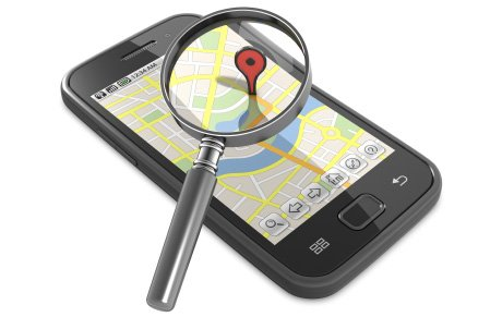 GPS track phone