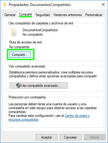 Share a folder through SMB or CIFS