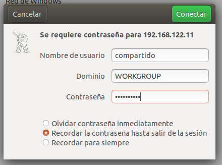 Accessing the share from Ubuntu