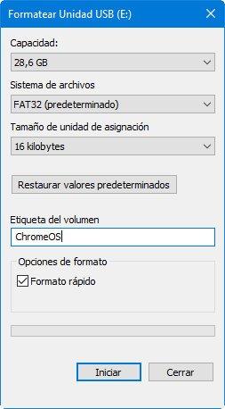 Chrome OS from a USB