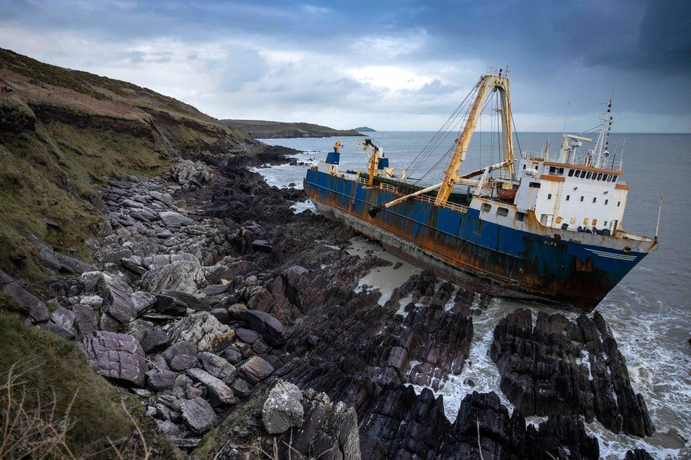 The ghost ship that ran aground in Ireland