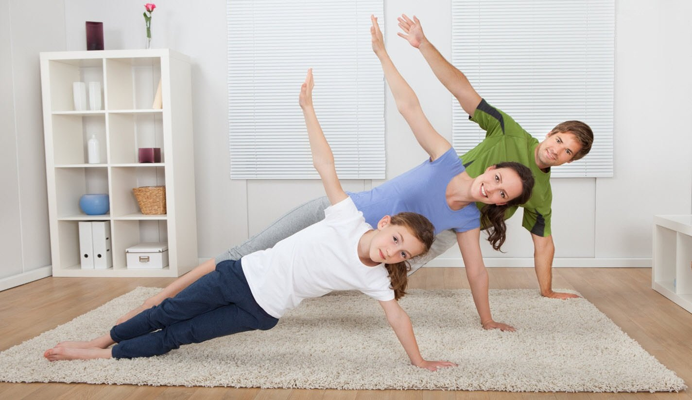 Let's take advantage of time at home by exercising.
