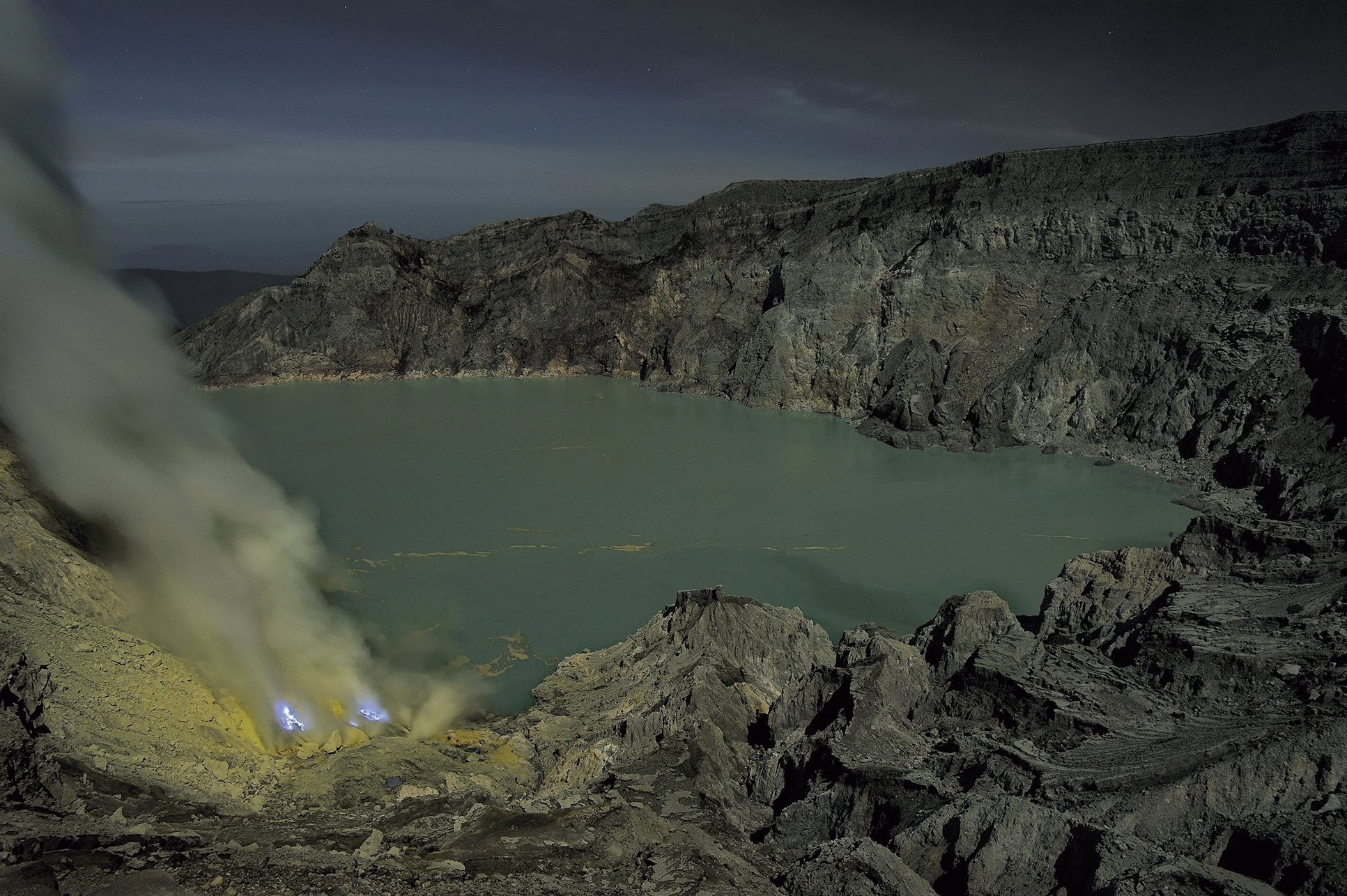 The Kawah Ijen is part of a group of active stratovolcanoes located in the province of East Java.