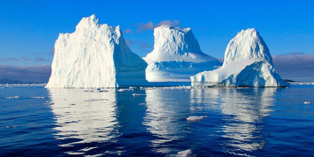 Greenland slowly melts.