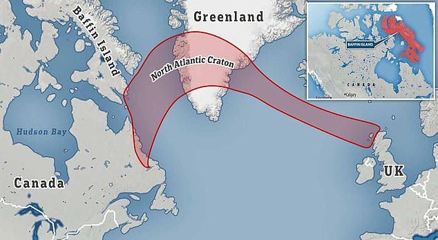 This would be the North Atlantic craton.
