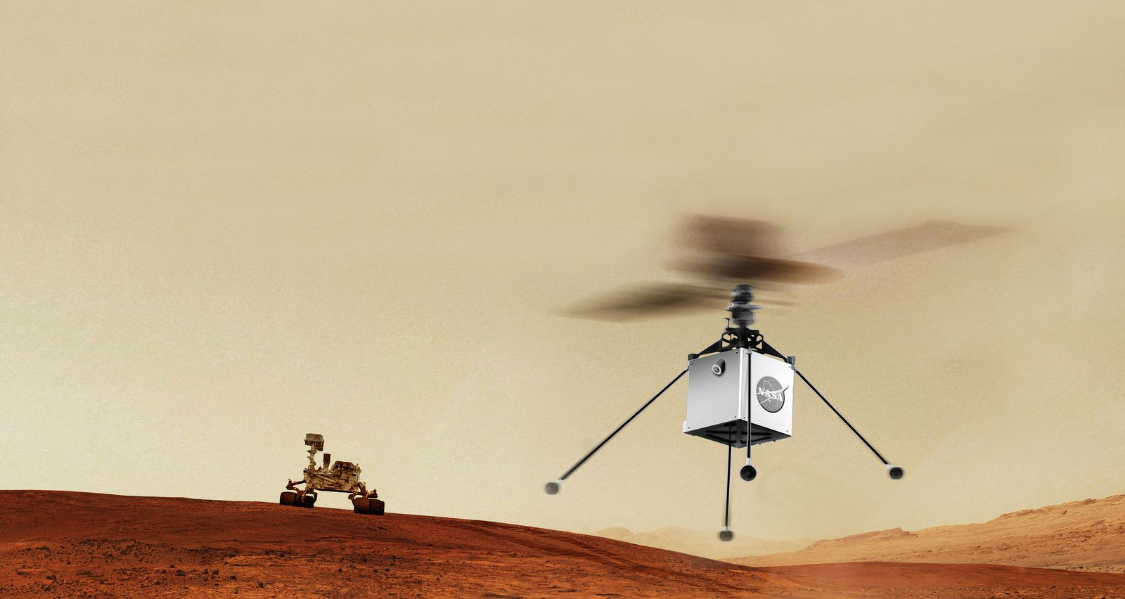 The first plane to fly in another world will do so on Mars.