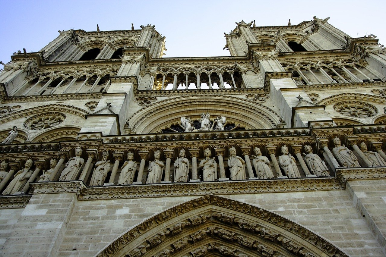 Notre Dame cathedral in French Gothic style