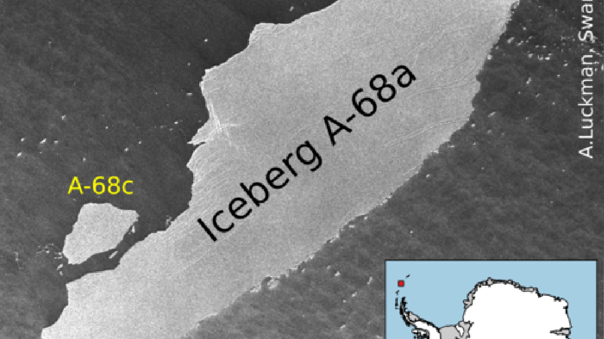 The largest iceberg fragments in the world