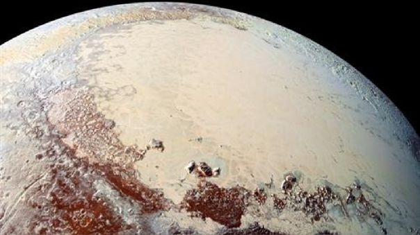 Pluto's ocean would be under its crust.