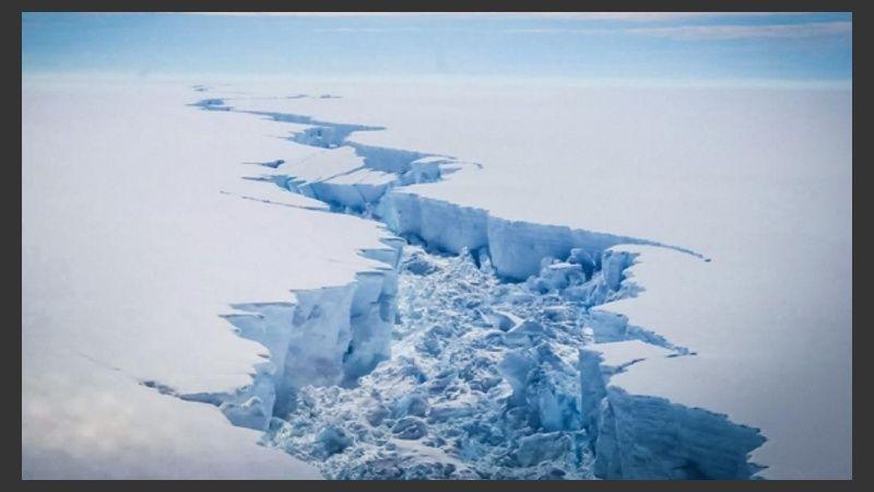This huge block broke off the Antarctic Peninsula in 2017.