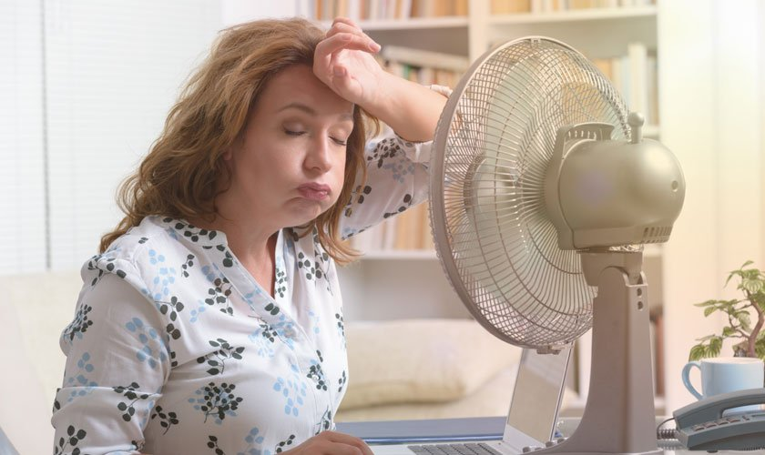 The heat would only be bearable by cooling the living and working environment.