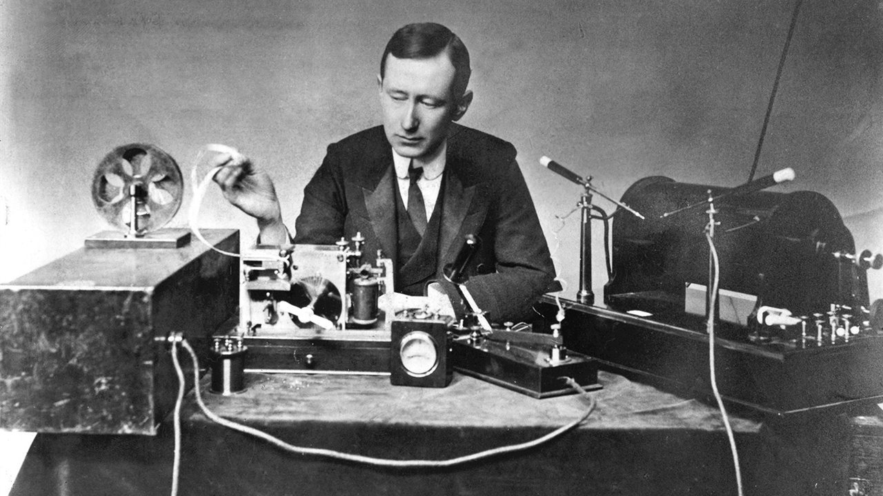 At the time the Titanic set sail, Marconi had recently invented the telegraph.