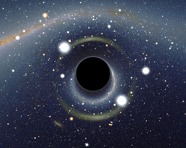 A black hole in the solar system?