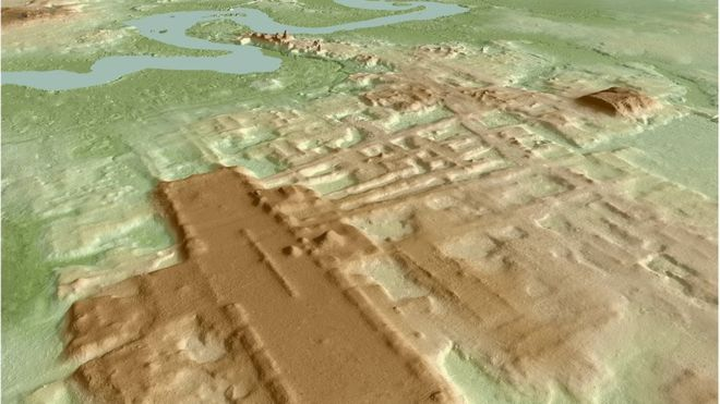 The monumental Maya building discovered