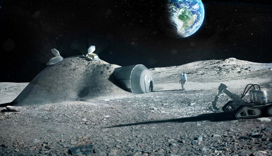Facilities are expected to be built on the moon in the future.