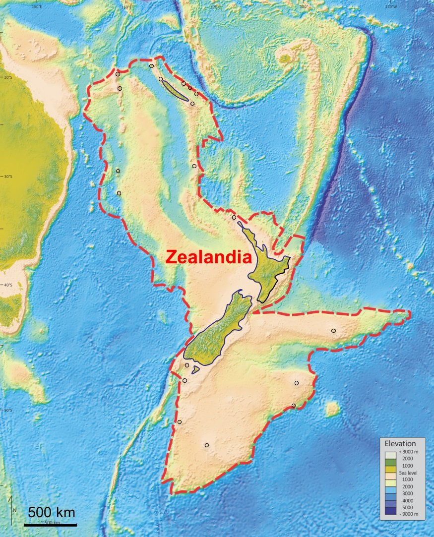 Zealand, the submerged continent