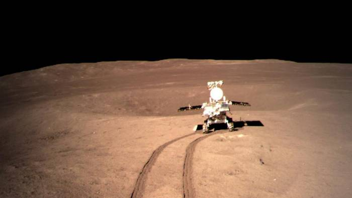 The Chinese rover encountered the strange substance.
