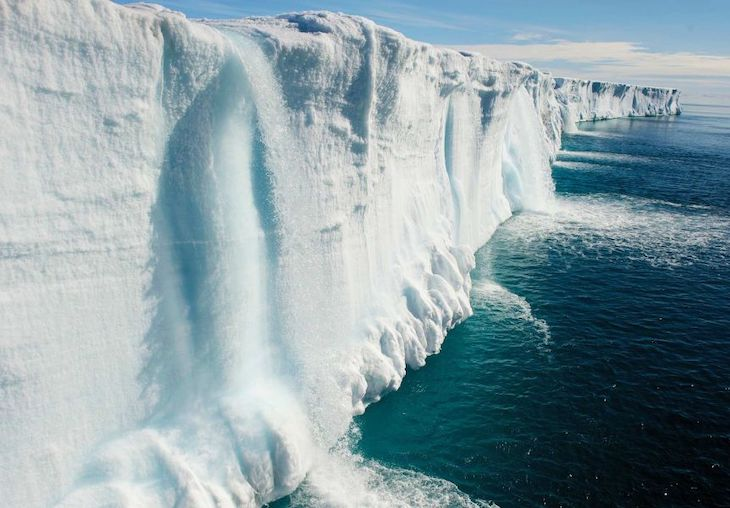 Half of the ice in the Arctic was lost