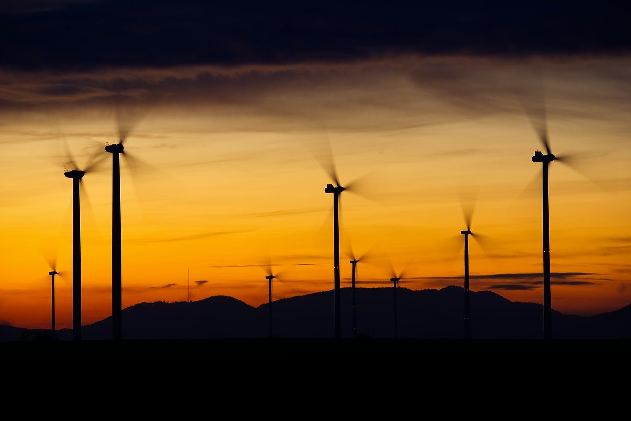Wind power is included in the generation of electricity