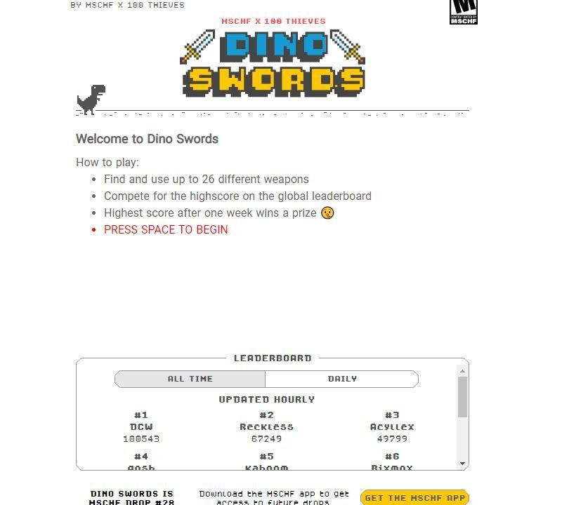 Dino swords online