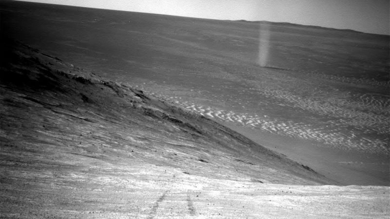 The dust devil on Mars