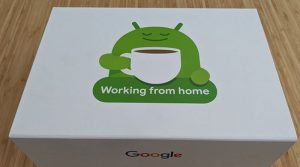 What's in the box that Google delivers to teleworkers?