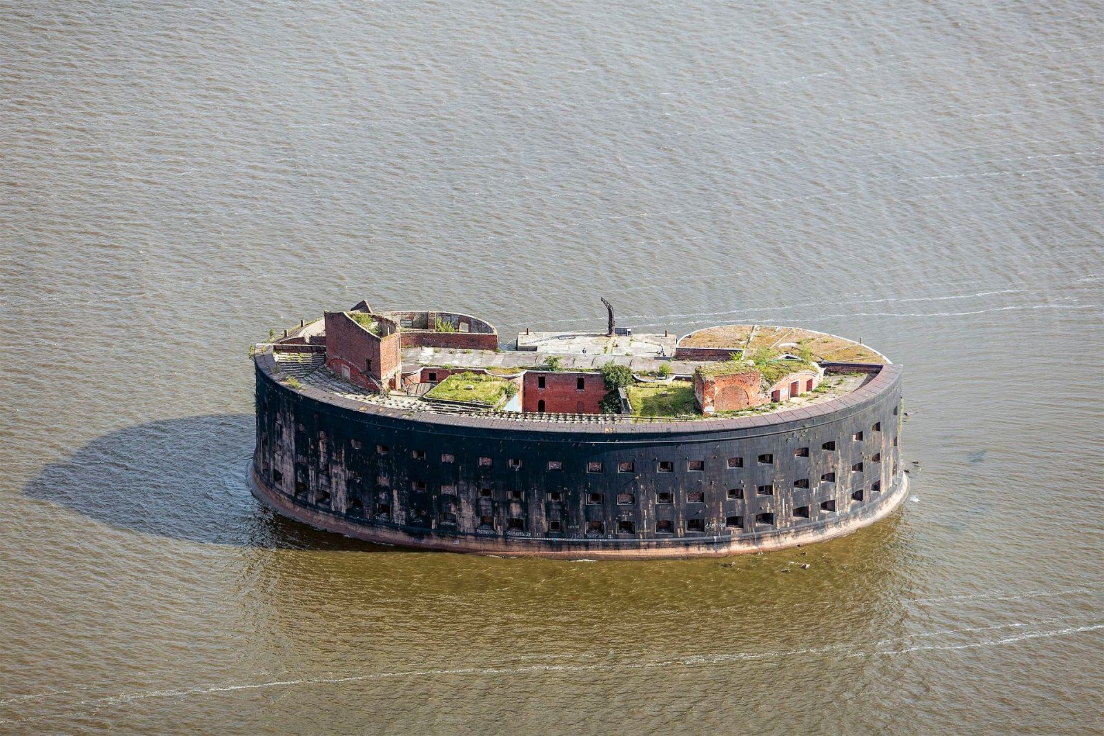 The floating fortress on the Baltic Sea