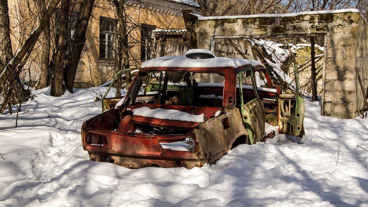 City of Pripyat near the Chernobyl nuclear power plant