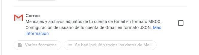 Back up emails