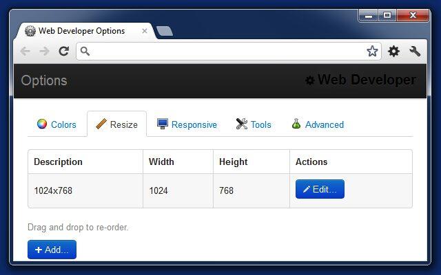 Web Developer Chrome Extension for SEO