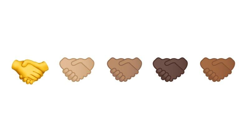 Emojis skin tone hands