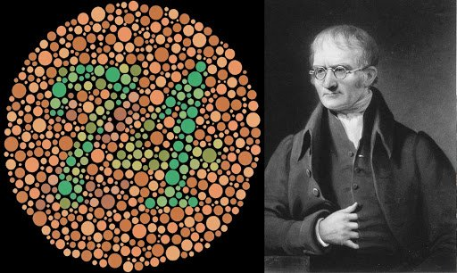 The discoverer of color blindness, John Dalton