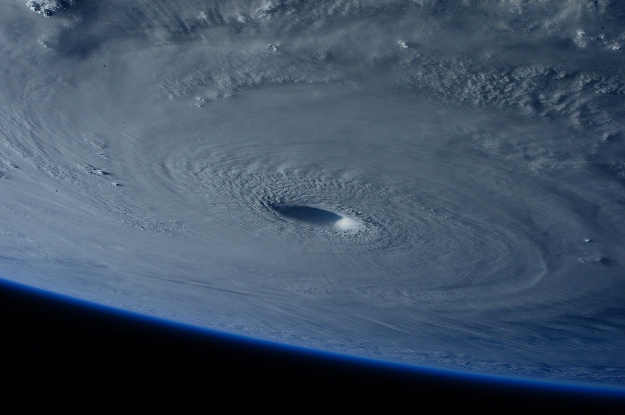 Hurricane as seen from a satellite