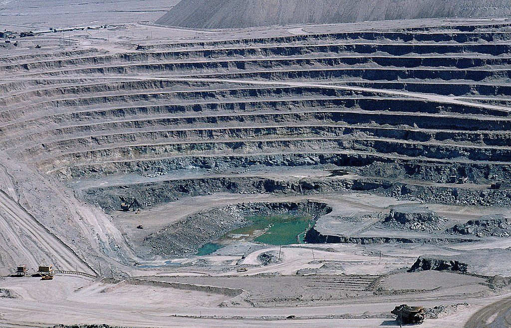 Gold open pit mines