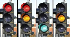 Were the colors of the traffic lights always the same?