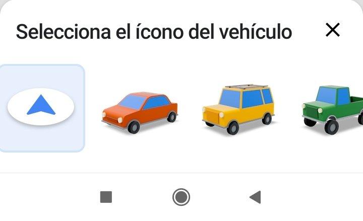 Vehicle selection Google Maps