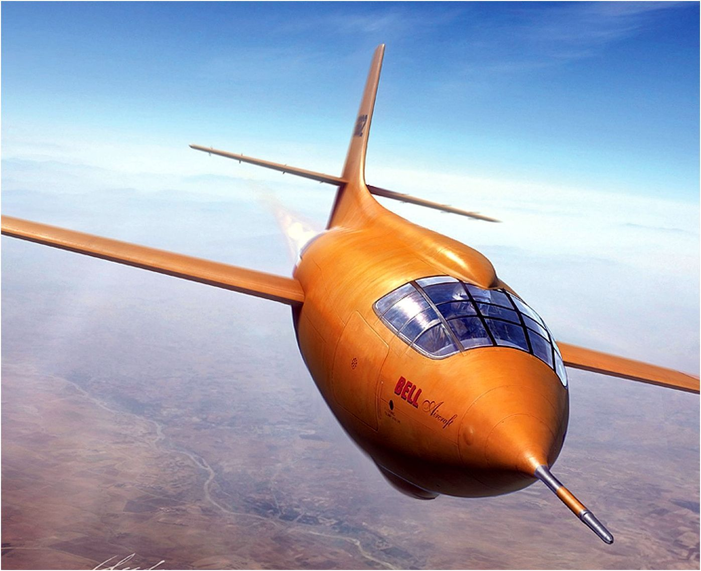 The Bell X-1 in all its glory.