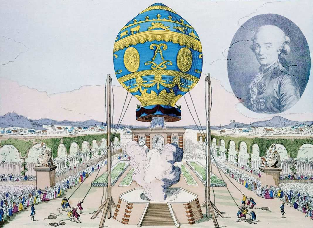 The first manned balloon flight
