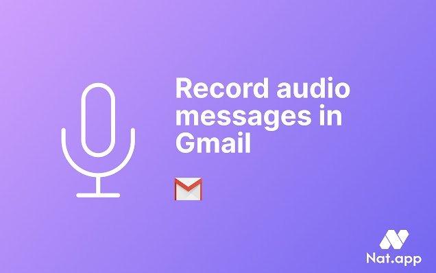 Record Nat.App audio in Gmail