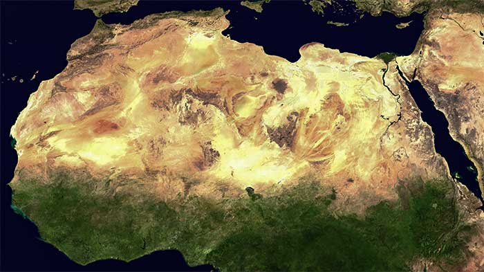 The North African region is one of the driest in the world.