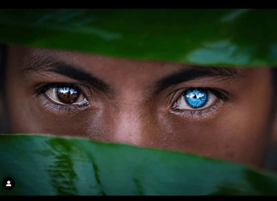 The blue-eyed tribe owes this to a rare genetic mutation.