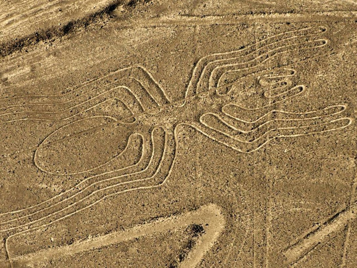 The Nasca Lines are particularly visible from the sky on aircraft flights.