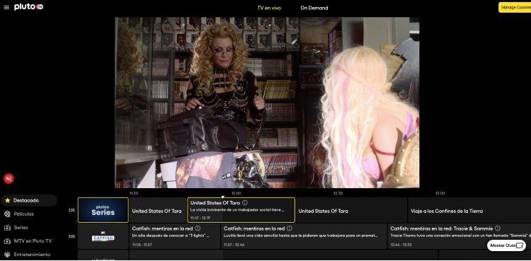 PlutoTV broadcast