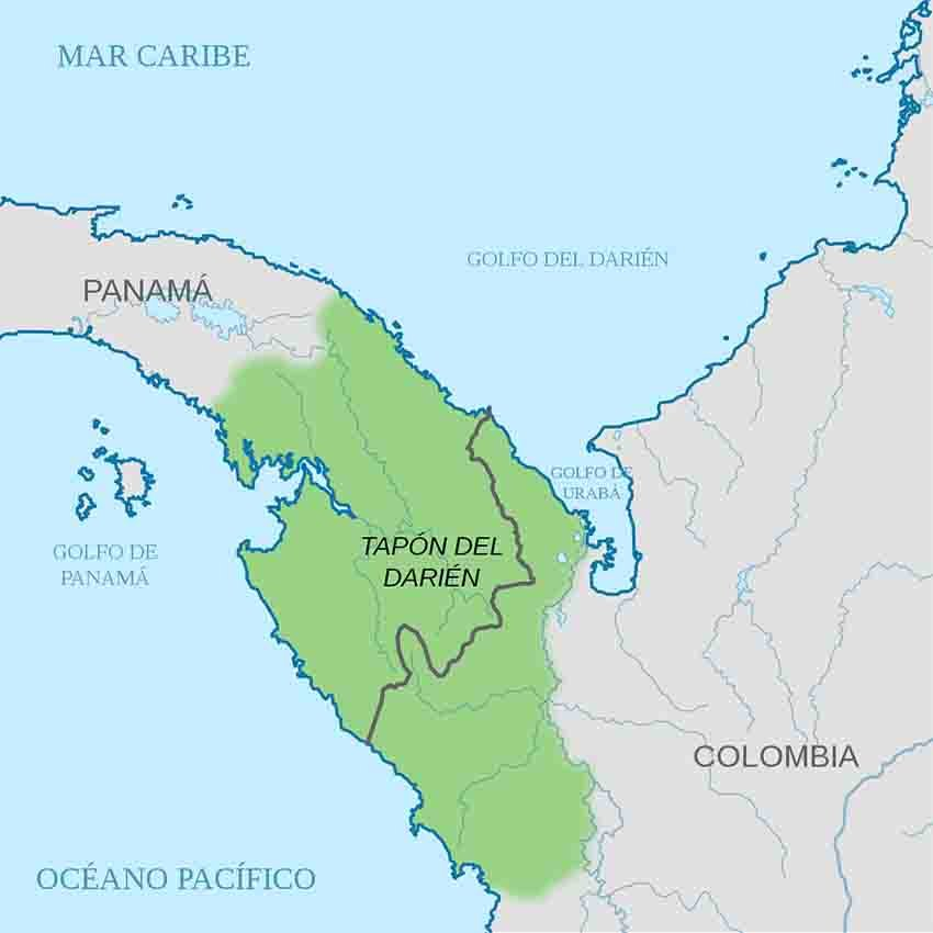 The Darien Gap prevents you from traveling straight from Alaska to Ushuaia