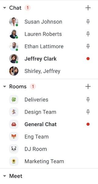 Google Chat Pin Conversations