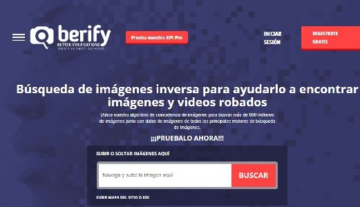 Berify identifies facial images