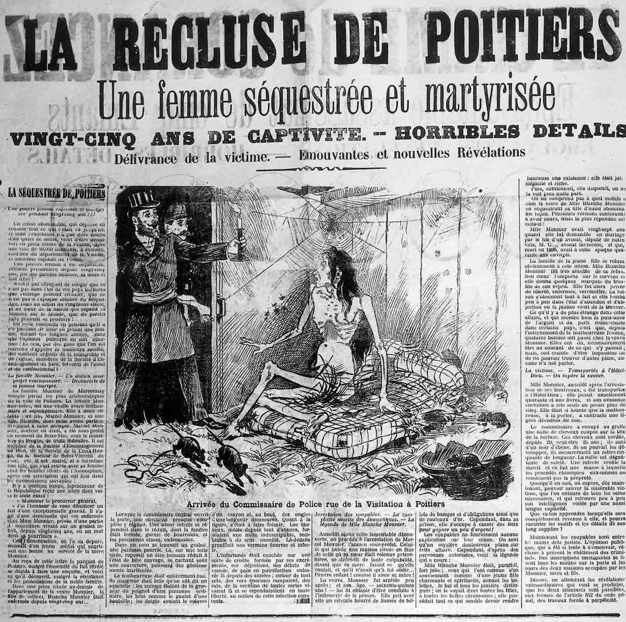 Newspaper with news from Blanche Monnier