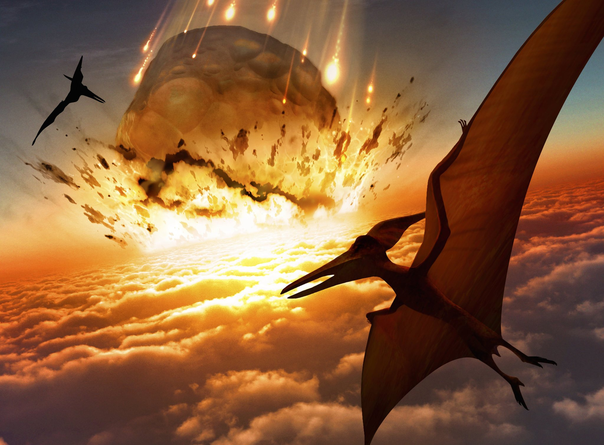 The meteorite event changed the planet forever.