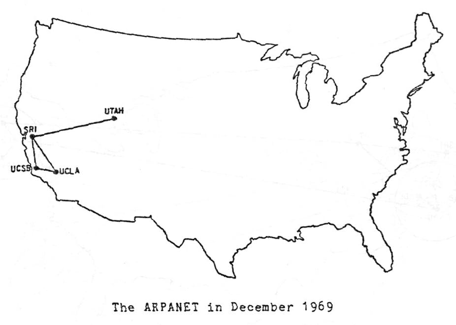 The ARPANET network was set up to facilitate the use of data between universities.