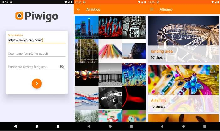 Piwigo app save Google photos
